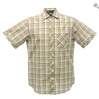 Regatta Deakin Mens Short-Sleeved Shirt - Size: XL - Colour: Parchment