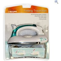 Boyz Toys Folding Travel Iron - Colour: White