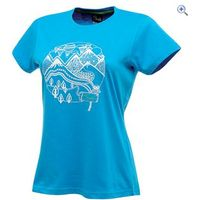 Dare2b Up and Away Womens Tee - Size: XXS - Colour: METHYL BLUE