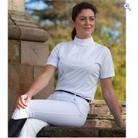 Shires Ladies Short Sleeve Stock Shirt - Size: S - Colour: White