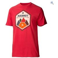 Marmot Mens Badge Tee SS - Size: S - Colour: Cardinal