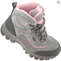 Hi-Tec Hillside Jr Waterproof Kids Walking Boot - Size: 1 - Colour: Grey Pink