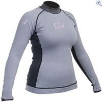 Gul Evotherm Flatlock Womens Rash Guard - Size: 16 - Colour: Grey And Black
