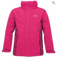 Regatta Obstacle II Childrens Waterproof Jacket - Size: 11-12 - Colour: JEM-DK CERISE