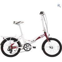 Compass Central Folding Bike - Colour: WHITE-RED