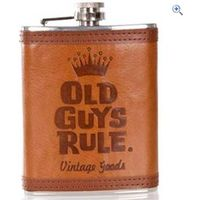 Old Guys Rule Stacked Hip Flask
