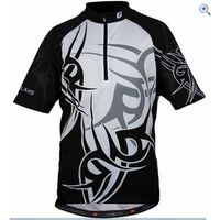 Polaris Tuareg Childrens Cycling Jersey - Size: L - Colour: Black - White