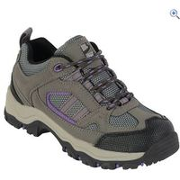 Freedom Trail Lowland II Girls Walking Shoe - Size: 3 - Colour: GREY-MULBERRY
