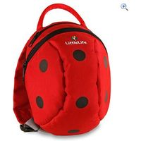 LittleLife Ladybird Daysack with Rein - Colour: Red