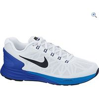Nike Lunarglide 6 Mens Running Shoe - Size: 10 - Colour: WHITE-BLK-BLUE