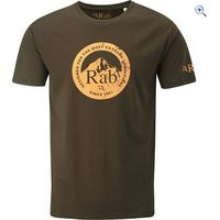 Rab Graphic Mens Tee - Size: S - Colour: Chocolate Brown