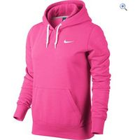 Nike Club Swoosh Womens Hoodie - Size: S - Colour: Pink-White