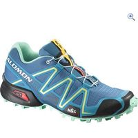 Salomon Speedcross 3 Womens Trail Running Shoes - Size: 8 - Colour: Blue / Green
