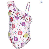 Trespass Girls Glowing Swimsuit - Size: 3-4 - Colour: White