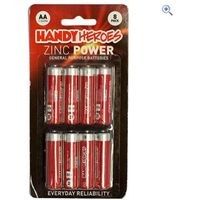 Handy Heroes AA Zinc Power Batteries (8 pack)