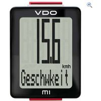 VDO M1 Wired Cycle Computer - Colour: Black