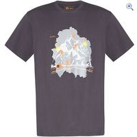 Hi Gear Holmes Mens Tee - Size: XXL - Colour: Graphite