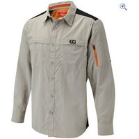 Bear Grylls by Craghoppers Mens Bear Treck Long-Sleeved Shirt - Size: L - Colour: METAL BROWN