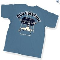 Old Guys Rule Cooking With Gas T-Shirt - Size: M - Colour: INDIGO BLUE