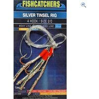 Bluezone 4 Hook Silver Tinsel Rig (2/0)