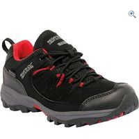 Regatta Holcombe Low Jnr Walking Shoe - Size: 2 - Colour: Black-Pepper