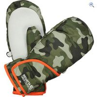 Regatta Kids Padded Spatter Mitts - Size: 5-6 - Colour: IVY GREEN