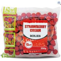 Rod Hutchinson Strawberry Cream Boilies 15mm (250g) - Colour: Red