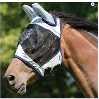 Masta Fly Mask (Half Face and Ears) - Size: FULL - Colour: Silver