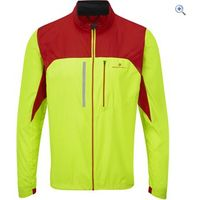 Ronhill Mens Vizion Windlite Jacket - Size: S - Colour: FLUO YELL-RED