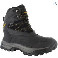 Hi-Tec Snow Peak 200 Waterproof Mens Winter Boot - Size: 12 - Colour: Black-Gold