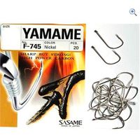 Sasame F-745 Yamame-Nickel Hooks (size 8, pack of 20)