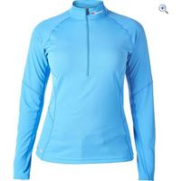 Berghaus Womens Tech Tee LS Zip Neck - Size: 18 - Colour: BLUE SPLASH