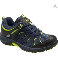 Merrell Childrens Chameleon Low Waterproof Sneaker - Size: 5 - Colour: NAVY-BLK-LIME