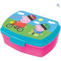 Peppa Pig Sandwich Box with Tray - Colour: PEPPA PIG