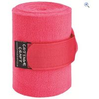 Cottage Craft Fleece Bandages (Set of 4) - Colour: Pink