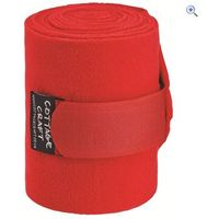Cottage Craft Fleece Bandages (Set of 4) - Colour: Red