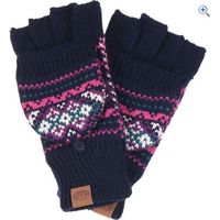 Animal Pozza Knitted Womens Flip Mitt - Colour: MULBERRY PURPLE