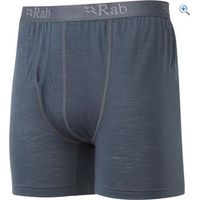 Rab MeCo 120 Mens Boxer Short - Size: XL - Colour: Grey And Black