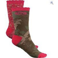 Animal Olive Olivia Womens Socks (2 Pair Pack) - Colour: Forest Green