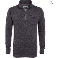 Weird Fish Tutor Plain 1/4 Zip Soft Knit Fleece Sweatshirt - Size: M - Colour: FROST GREY