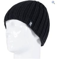 Heat Holders Mens Chunky Rib Hat - Colour: Black