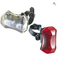 CatEye LD170 Front and Rear Light Set - Colour: Black
