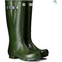 Hunter Mens Norris Field Side Adjustable Wellington Boots - Size: 9 - Colour: Green
