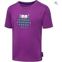 Hi Gear Kids Curious Creature Owl Tee - Size: 5-6 - Colour: PURPLE ORCHID