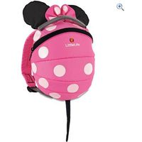 LittleLife Disney Pink Minnie Mouse Toddler Backpack with Rein - Colour: Pink