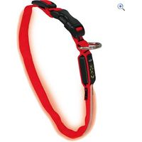 Nite Ize Dawg LED Dog Collar (Medium) - Colour: Red