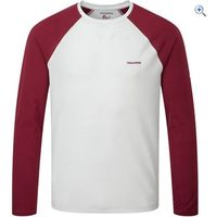 Craghoppers Mens Nosilife Goddard Long-Sleeved T-Shirt - Size: 30 - Colour: LIGHT GREY MARL