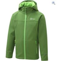 Hi Gear Switch Childrens Softshell Hoody - Size: 5-6 - Colour: CLASSIC GREEN