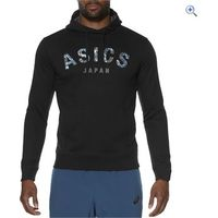 Asics Mens Camou Logo Hoodie - Size: S - Colour: Black