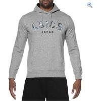 Asics Mens Camou Logo Hoodie - Size: L - Colour: Heather Grey